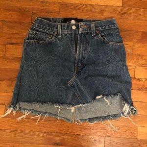 Levi's denim cut off skirt